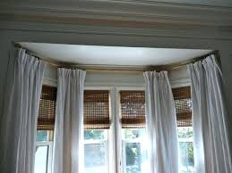 Installing Curtain Rod Bay Window Rods Best Ceiling Mount Curtain Rods Ideas On Ceiling