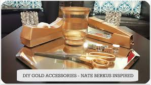 diy gold accessories for home office nate berkus youtube