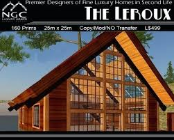 a frame home kits second life marketplace the affordable luxury a frame prefab a
