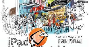 ipad urban sketching lisbon urban sketchers