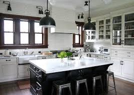 traditional kitchen with black flush light pendant lighting lights
