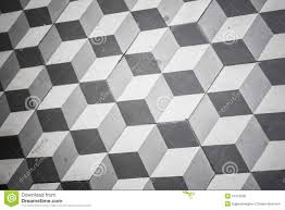 Download Black And White Floor by Old Black And White Tiling On Floor Cubic Pattern Stock Photo