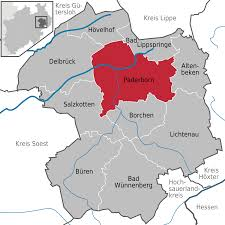 Map Of Germany With Cities And Towns In English by Paderborn Wikipedia