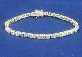 sterling tennis bracelet images Designer vintage sterling silver round cz tennis bracelet 7 925 jpg