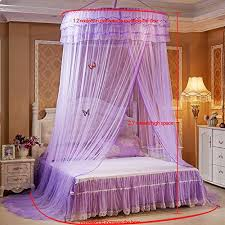 Lace Bed Canopy Sinotop Round Mosquito Nets Luxury Princess Pastoral Lace Bed