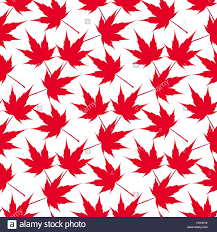 red maple leaves seamless pattern canada japanese symbolism