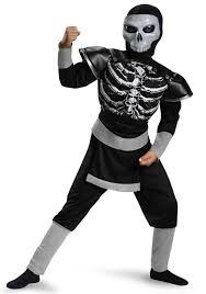 Boys Skeleton Halloween Costume Boys Skeleton Ninja Muscle Costume