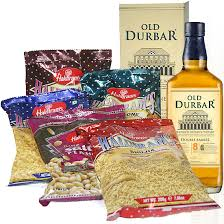 Scotch Gift Basket Father U0027s Day Celebration Snacks And Old Durbar Whisky Send Gifts