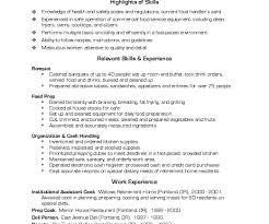 resume amazing chic cook resume skills 11 unthinkable 1 sample