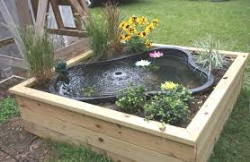 building a boxed backyard pond i really like this idea safer