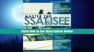 free download master the ssat isee 2004 e peterson s master