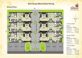 row house floor plan overview mahidhara central chennai mahidhara projects pvt ltd