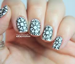 wondrously polished 31 day nail art challenge day 7 black and
