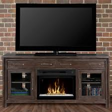 Media Electric Fireplace Woolbrook Distressed Nutmeg Electric Fireplace Media Console W