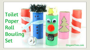 christmas crafts toilet paper roll craft how to make a bowling