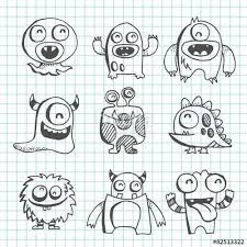 how to draw doodle faces vecteur line drawing doodles