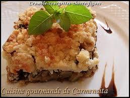cuisiner les figues recette crumble courgettes chèvre figues 750g
