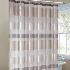 Brown And Gold Shower Curtains Metallic Stripe Shower Curtain Silver Gold Bathroom