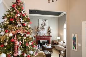 christmas decor in the home christmas décor home tour red plaid white reindeer