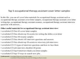 ot cover letter occupational therapy aide cover letter curriculum