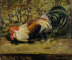 study of a cockerel art uk
