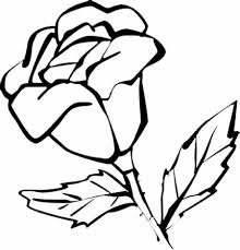 simple flower coloring pages getcoloringpages