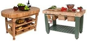 John Boos Butcher Block Table Kitchen Tables - Kitchen butcher block tables