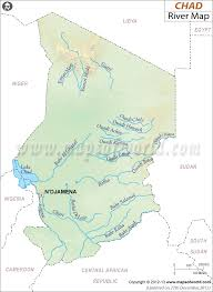 world rivers map shapefile chad river map
