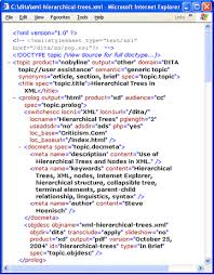 hierarchical trees in xml