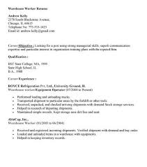 Sample Resume Warehouse Worker by Crane Operator Resume Examples Samples In Sample Resumes For