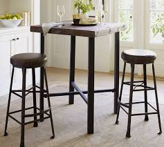 Bar Table And Stool Griffin Reclaimed Wood Bar Height Table Pottery Barn