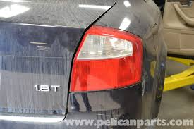 audi a4 tail lights audi a4 b6 tail light bulbs and assembly replacement 2002 2008