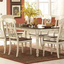 7 dining room sets weston home ohana 7 rectangle dining table set white from