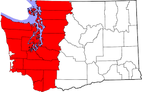 Spokane Washington Map Western Washington Wikipedia