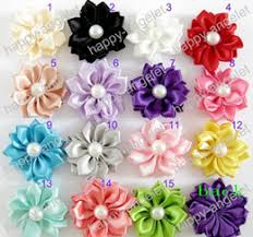How To Make Flower Hair Clips - discount diy ribbon flower hair clips 2017 diy ribbon flower