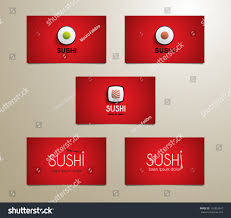 set modern sushi business card template stock vector 153333467