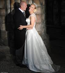 zara phillips wedding to mike tindall at canongate kirk royal