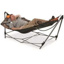guide gear oversized portable folding hammock mossy oak break up