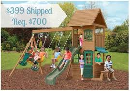 Sears Backyard Playsets Walmart 399 Big Backyard Windale Wooden Swing Set 700 Value