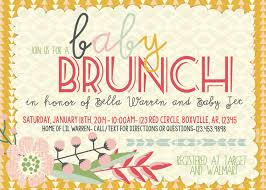 wording for brunch invitation theme baby shower brunch invitations