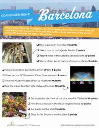 barcelona scavenger hunt worksheet education com