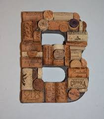 this handmade wine cork letter b is 8 x 6 the recycled wine corks