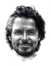christian bale by artist pranab das pencil drawings on paper