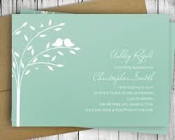 love bird invitation wedding bridal shower printable mint