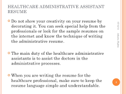 Sample Resume Language by Healthcare Administrative Assistant Resume 7