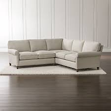 small sectional sofas for small spaces small scale sectional sofas crate and barrel