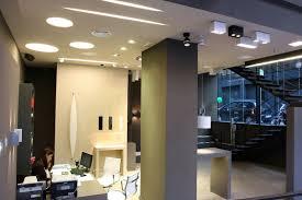 black fabric pattern indoor plant showroom interior lighting