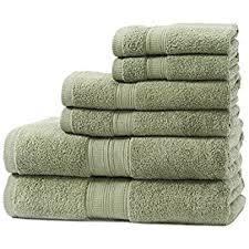premium 8 towel set green 2 bath towels