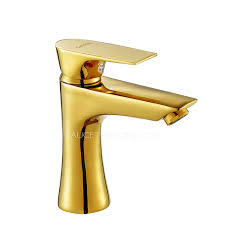 gold faucets polished brass finish bathroom
