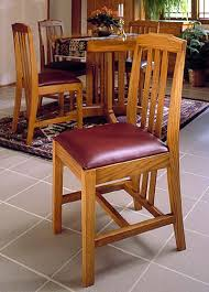 arts and crafts dining chairs woodworking plan from wood magazine